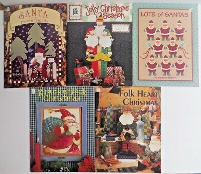 Tole Painting Pattern Books Set of 5 Christmas Santa Holiday Winter