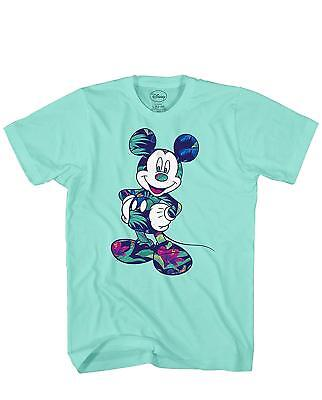 Disney Mickey Mouse Tropical World Tee Funny Humor Adult Men's Graphic T-shirt