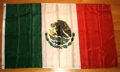 Mexican Flag 3 X 5 Smooth Polyester Sharp & Clear coloring Bandera Mexicana