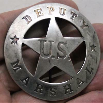 Reproduced Collectible  - Deputy US Marshal - Heavy Double Stamped Metal