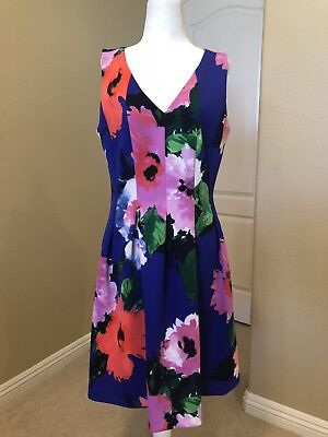 db2ae08e1978 VINCE CAMUTO STRIPED Floral Fit & Flare Dress - Size 14 - $49.99 ...