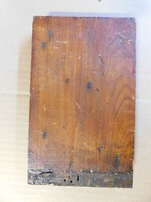 1800's Wooden BASE TRIM DOOR Plinth Block VICTORIAN Style Butternut ORNATE