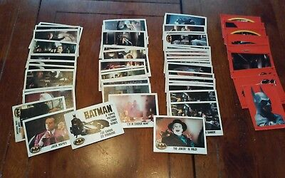 1989 Batman Movie Trading Cards  Topps