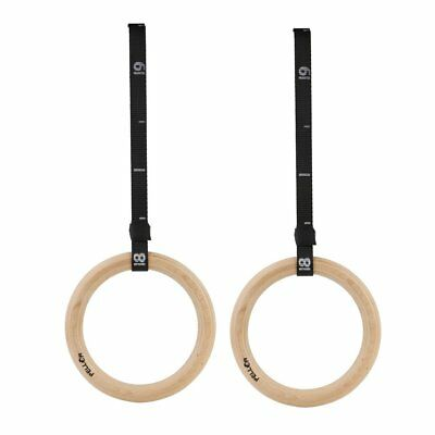 Pellor Wood Olympic Gymnastic Rings Gym fitness Training Exercise Strap Pull Up