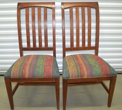 """Ethan Allen American Impressions Dining Side Chairs Two Cherry #24-6401#224 """"C"""""""