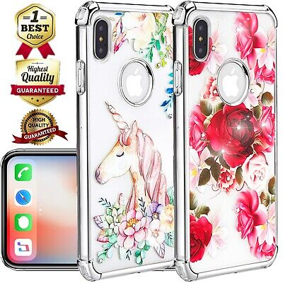 Shockproof Clear Diamond Girl Bumper Case Fits iPhone XS Max/XR/X/6/6s/8/7/Plus