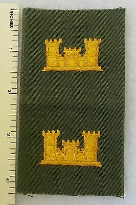 1960s US ARMY VIETNAM Vintage PATCH Color PAIR of ENGINEER OFFICER INSIGNIA