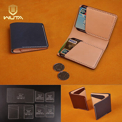 WUTA Leather Vertical Wallet Template Acrylic Card Csae Stencil Pattern