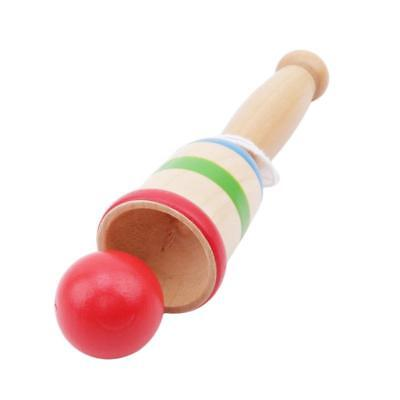 1 PC Ball and Cup Classic Wooden Toy Traditional Wooden Wood Toy BL