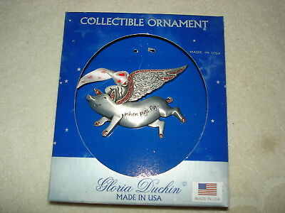 "Lovely Gloria Duchin ""when Pigs Fly"" Angel Pig Christmas Ornament: New"