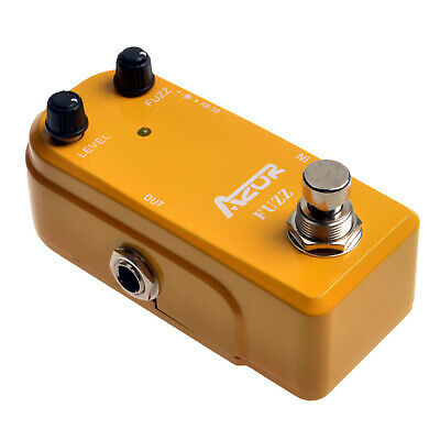 AZOR Fuzz Mini Pedal Guitar Effect Pedal Ture Bypass AP-310 Guitar Accessories