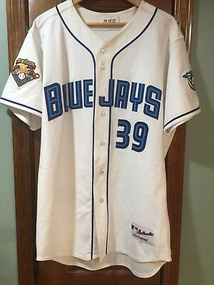 133746452ea Toronto Blue Jays 2001 25th Anniv Steve Parris Game Worn Jersey - 2 Patches