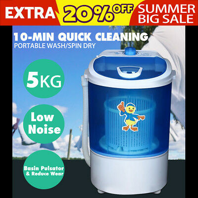5KG Mini Portable Washing Machine Camping Caravan Outdoor Boat RV Dehydration
