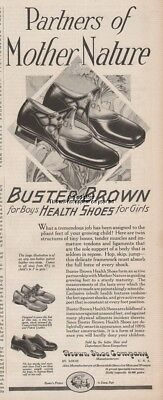 1927 Buster Brown Shoe Company St Louis MO Vintage 1920s Girls Mary Jane Tige Ad