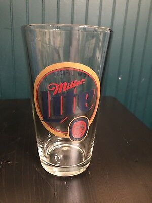 Miller Time New Jersey Pint Beer Pub Glass NJ