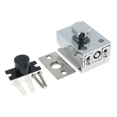 High Quality, Glass Door Latches Lock/Bolt, 10mm Glass, No Drilling