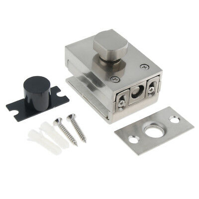 High Quality, Glass Door Latches Lock/Bolt,10mm Glass, No Drilling, Bathroom