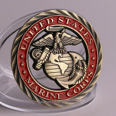 US Marine Corps Badge Commemorative Coin Hollow coin Crafts Collection coin