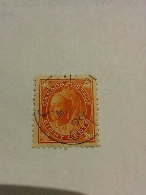 """1897 - 98 Queen Victoria """"Maple Leaf"""" issue # 72"""