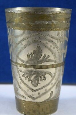 Old Indian Brass Glass Milk Shake Lassi Drink Kitchen Multi Utility. G66-306 AU