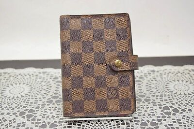 Authentic Louis Vuitton Diary Cover Agenda PM Browns Damier 349128