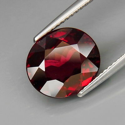 5.05Ct.Outstanding Color! Natural Red Rhodolite Garnet Africa Good Cutting