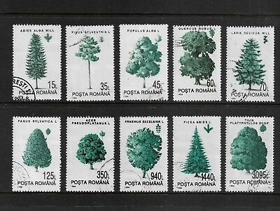 ROMANIA 1994 Forest Trees, set of 10, CTO