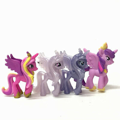 Lot 4pcs My Little Pony Friendship is Magic Series Action Figure Kid Toy Doll