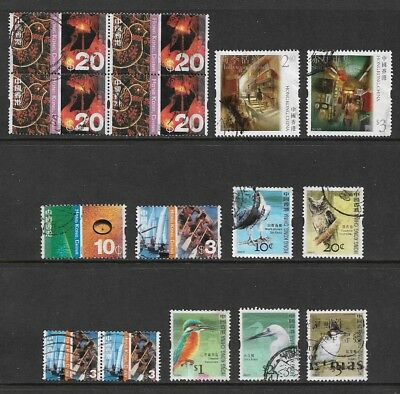 HONG KONG, China, mixed collection No.2, incl Birds, Cultural Diversity, used
