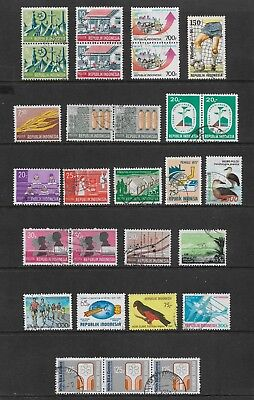 INDONESIA mixed collection No.21, incl joined pairs, strip, used