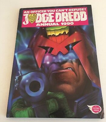 Judge Dredd - 1990 Annual - Not price clipped - No writing