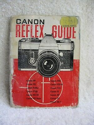 CANON Historic   Reflex Guide, By FOCAL Camera Guides. UsableCondition