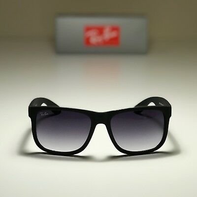 ee8a73d6a5e6 NEW RAY-BAN JUSTIN Classic Black RB4165 601/8G 54-16 with Grey ...