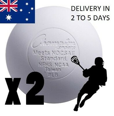 2 Official Lacrosse Balls Team sports size weight white Solid rubber field sport