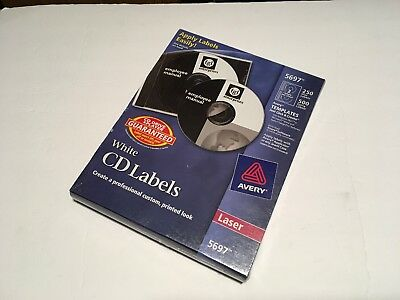 avery laser cd dvd labels matte white 30 pack ave6692 21 44