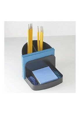 Officemate Desk Organizer, with Post-it pad, mail holder, 2 pen cups