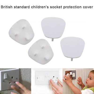 12/24/48x Plug Socket Covers Plastic Baby Kid Safe Protector for UK 3Pin Sockets