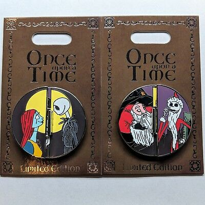 Jack Sally Once Upon a Time Pin Disney 2018 Nightmare Before Christmas LE 2000