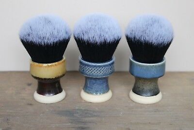 Giles Shaving Co.- 30mm Waisted Tuxedo Ceramic Shaving Brush- handmade in UK