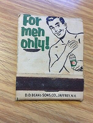 Vintage MENNEN For Men BATH TALC ~ FRONT STRIKE MATCHBOOK
