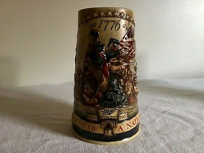 Miller High Life Birth of a Nation Ceramic Beer Stein 3rd in the Series (D3)