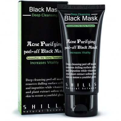 PACK 4 x Shills Deep Cleansing Peel-Off Black Face Mask Blackhead Remover 50ml