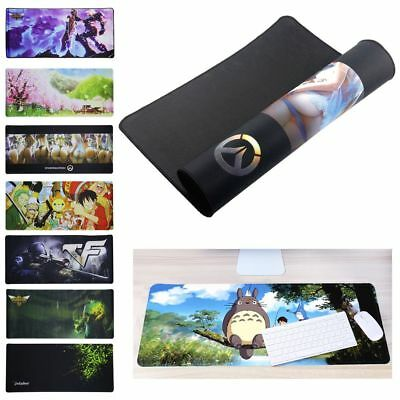 Extra Large Size Gaming Mouse Pad Desk Mat Anti-slip Rubber Speed Mousepad Anime