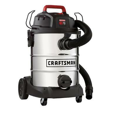Craftsman 8 Gallon Stainless Steel 4 Peak HP Wet/Dry Vac & NEW - FREESHIPPING