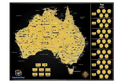 Australia Scratch Map (NEW) 810 x 610mm
