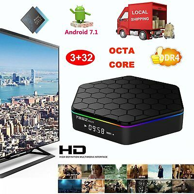 2019 3+32GB DDR4 Android 7.1 S912 Octa Core Smart TV BOX T95Z Plus Dual Wifi UK