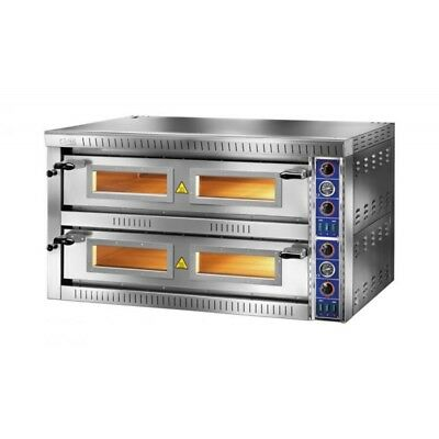 OVEN ELECTRIC FOR PIZZERIA DOUBLE CHAMBER mod.SB 6+6G for 12 PIZZAS