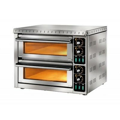 OVEN ELECTRIC FOR PIZZERIA DOUBLE CHAMBER mod.MD1+1 for 2 PIZZAS
