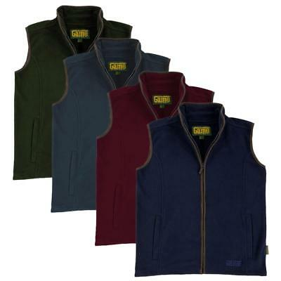 Game Mens Stanton Waistcoat Country Fleece Bodywarmer Gilet Vest Jersey Zipper