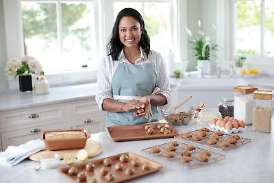 Ayesha Curry Bakeware Cookie Pan Set, Copper, 2-Piece Top Quality Brand New